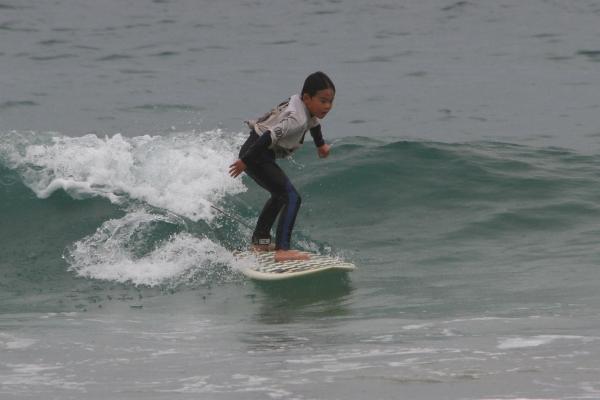 1位:いっぺいくん 小さい波をスイスイ滑り見事優勝