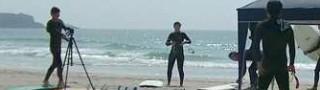 サーフィンスクール&ボード試乗会の様子です!