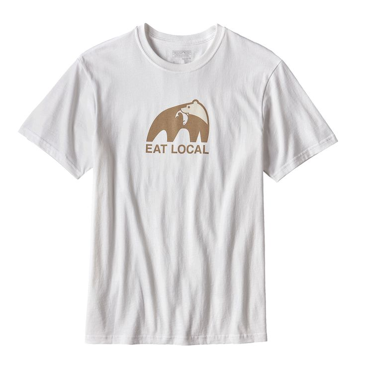 patagonia ms eat local upstream cotton t shirt real surf shop