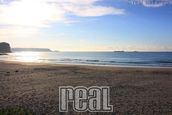 今日も静かなビーチ。