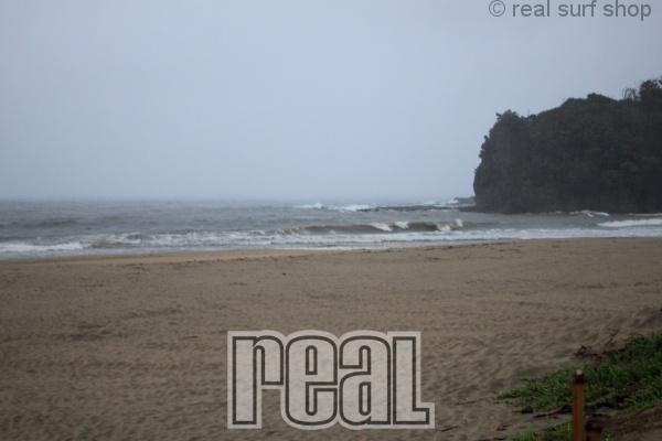大雨で海は茶色!!